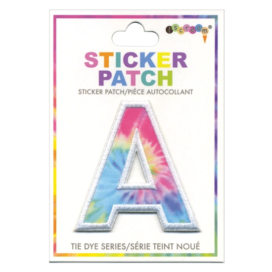 Initial Tie Dye Sticker Patch ( A-I )