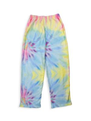 Pastel Tie Dye Plush Pants