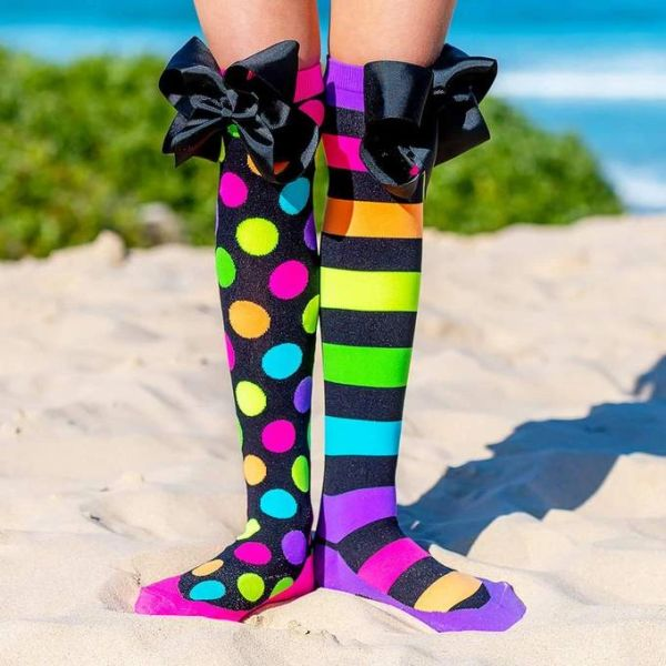 LIQUORICE BOWS SOCKS - SOLD OUT!
