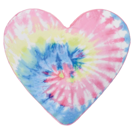 Pastel Tie Dye Heart Scented Microbead Pillow