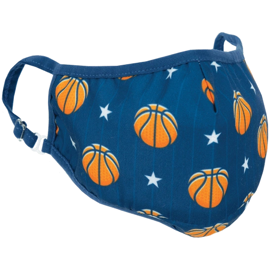 Basketball and Stars Face Mask