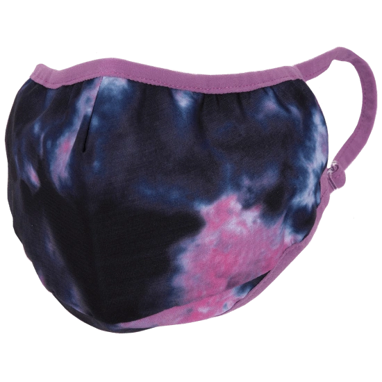 Indigo and Pink Tie Dye Face Mask