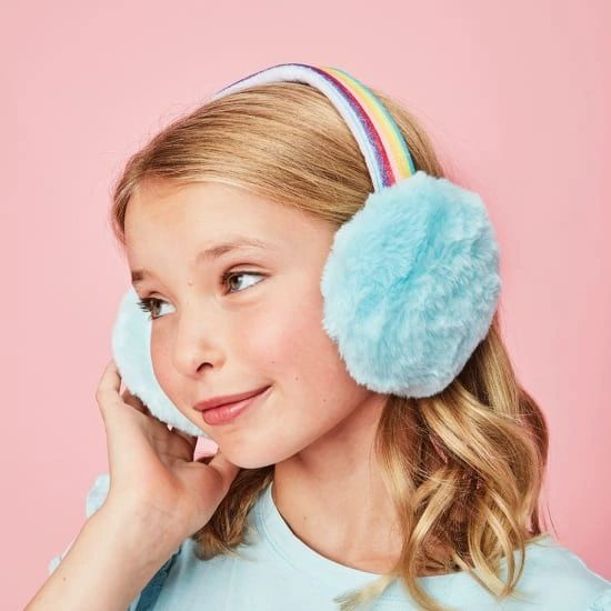 Rainbow Furry Earmuffs