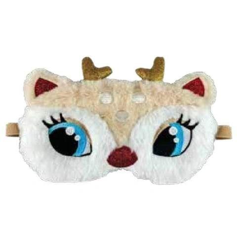 Reindeer Embroidered Eye Mask