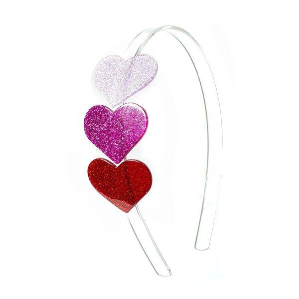 Triple Heart Headband - Lilies & Roses NY
