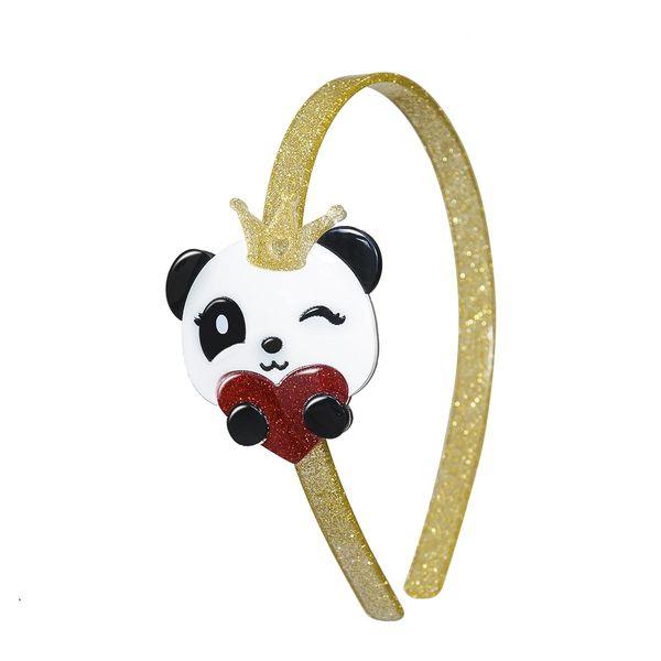 Panda Heart Headband - Lilies & Roses NY