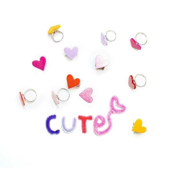 Heart Rings (Solid Colours) - Lilies & Roses NY