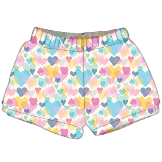 Pastel Hearts Plush Shorts