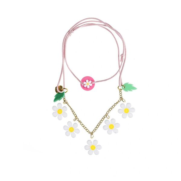 White Daisy Necklace - Lilies & Roses NY