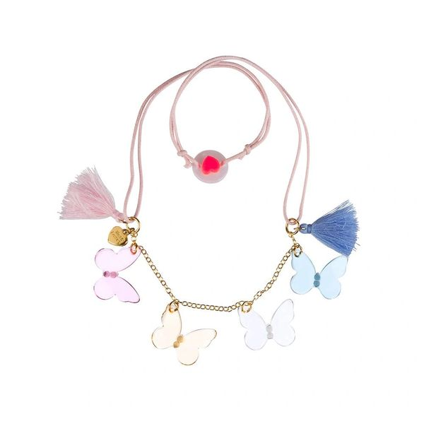 Pastel Butterflies Necklace - Lilies & Roses NY