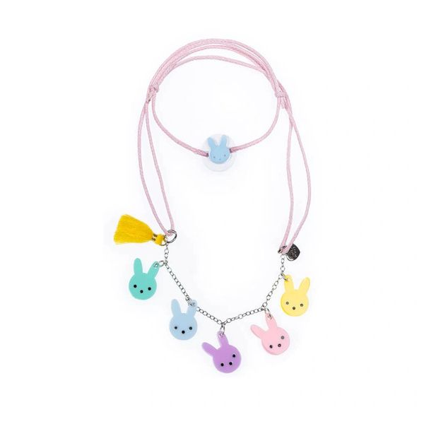 Cute Bunny Pastel Colors Necklace - Lilies & Roses NY