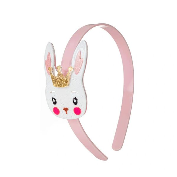 Cute White Bunny with Crown Headband - Lilies & Roses NY