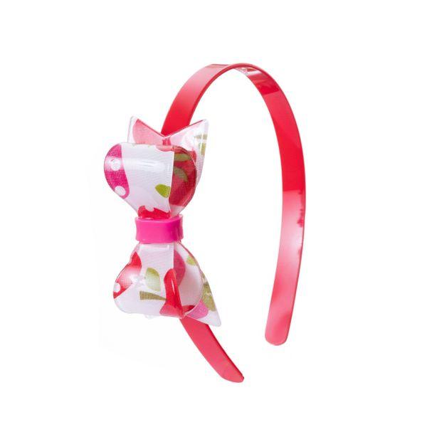 Strawberry Printed Bow Headband - Lilies & Roses NY