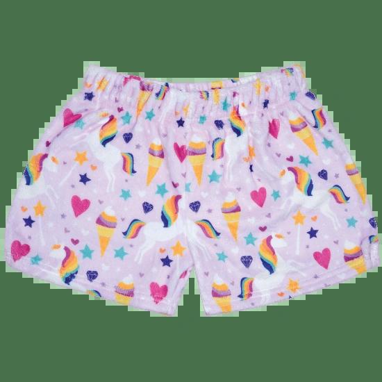 Magical Unicorn Plush Shorts