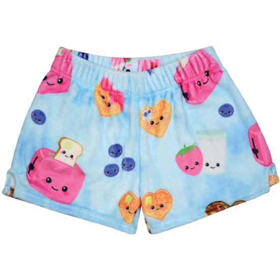 Breakfast Fun Plush Shorts