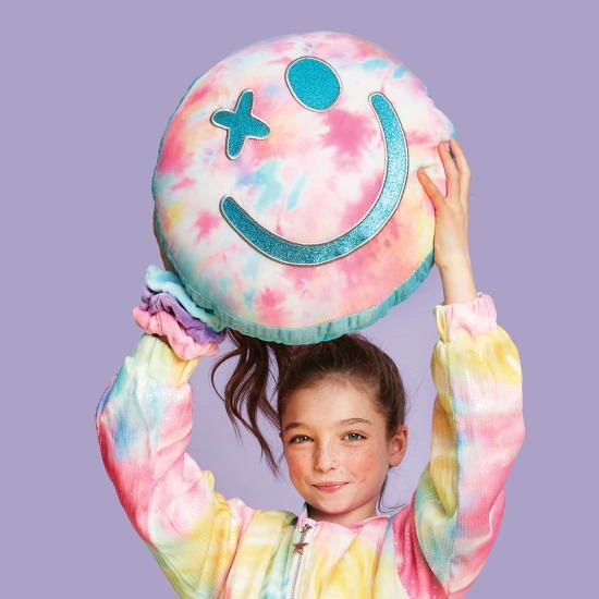 Cotton Candy Smiling Face Scented Micro bead Pillow