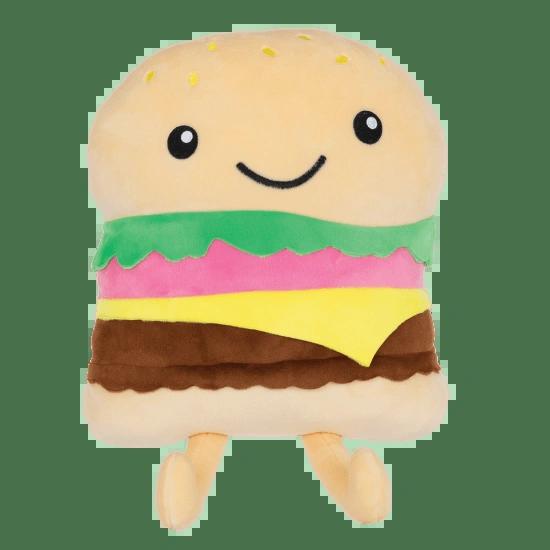Happy Burger Fleece Pillow