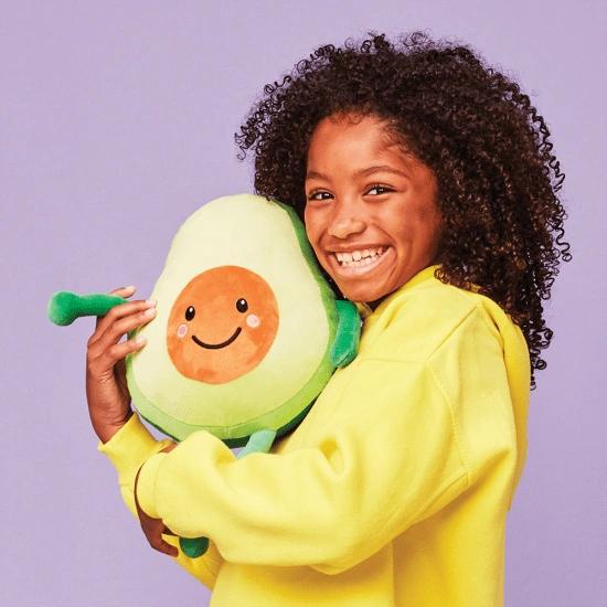 Smiling Avocado Fleece Pillow