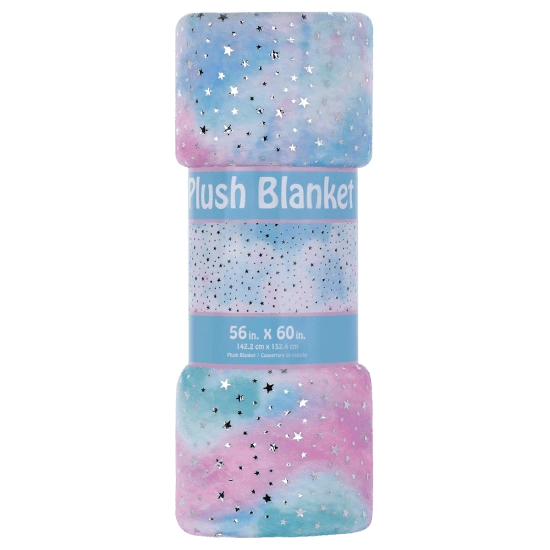 Silver Star Tie Dye Plush Blanket