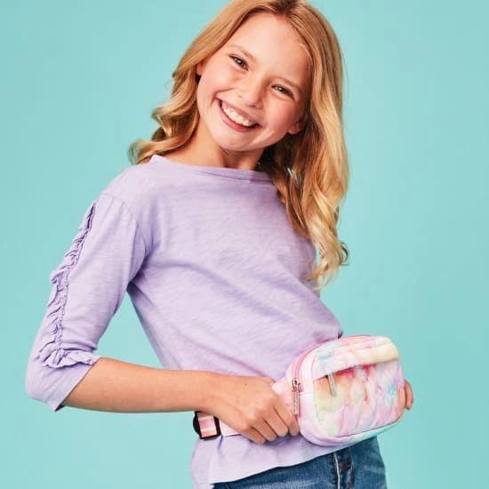 Cotton Candy Heart Belt Bag