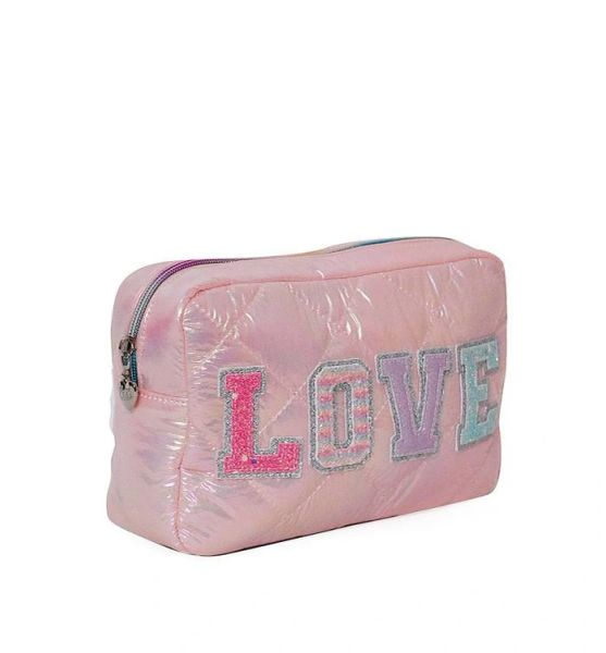 'LOVE' PUFFY QUILTED COSMETIC POUCH - OMG Accessories