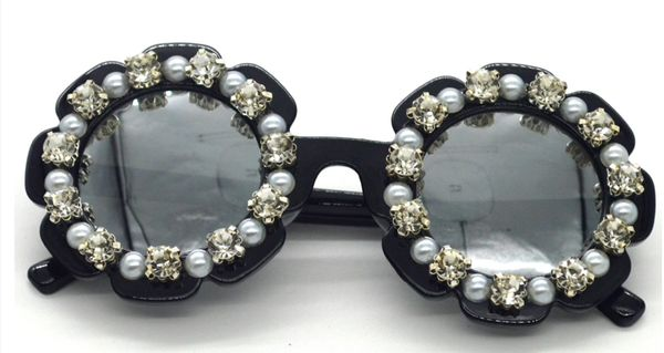 Embellished Flower Sunglasses - DAINTY GIRL ACCESSORIES