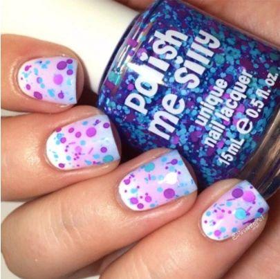 Dreamer- Polka Dot-NEON- Indie Glitter Nail Polish