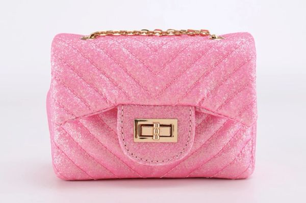 Quilted Chevron Sparkly Flap Mini Bag - Dainty Girl Accessories