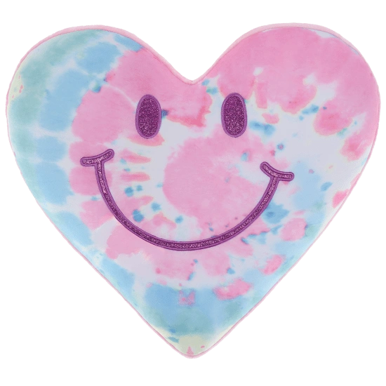 Happy Face Heart Glitter Scented Microbead Pillow