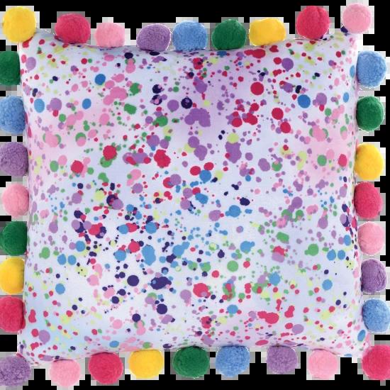 Confetti Pom-Pom Fleece Pillow