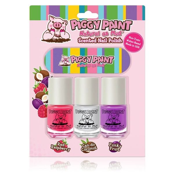 Scented 3-Pack with Nail File - Piggy Paint