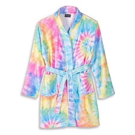 Tie Dye Delight Fuzzy Bathrobe - Top Trenz