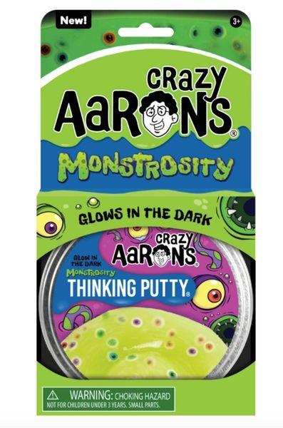 "MONSTROSITY - Crazy Aaron's ""Glow-in-the-Dark"" Thinking Putty"