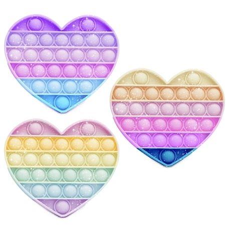 OMG Pop Fidgety - Translucent Shimmer Glitter Heart