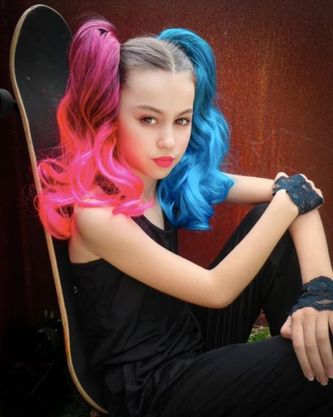 HARLEY QUINN 2-PACK CURLY PONYTAIL HAIR EXTENSIONS - Magic Manes