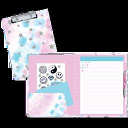 Silver Star Tie Dye Clipboard Set