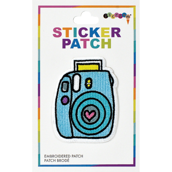 Camera Embroidered Sticker Patch