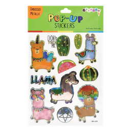 Llamas Pop-Up Stickers