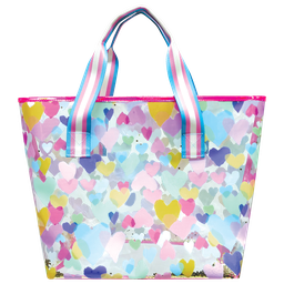 Pastel Hearts Clear Tote Bag