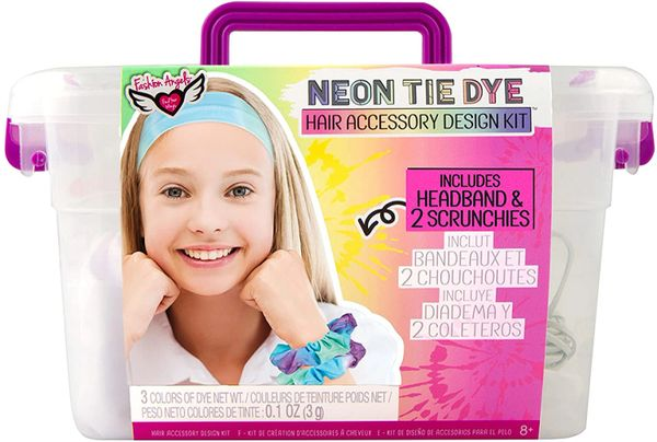 Neon Tie Dye Hair Accessories Kit - FASHION ANGELS