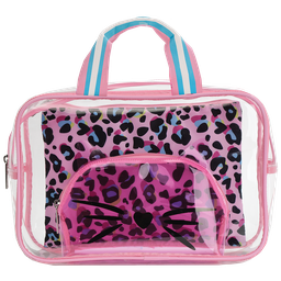 Pink Leopard Cosmetic Bag Trio