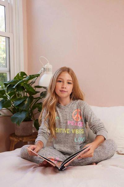 NEON Emoji + Words Pullover Hoodie - VINTAGE HAVANA KIDS