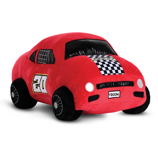 Red Race Car 3-D Fleece and Metallic Pillow