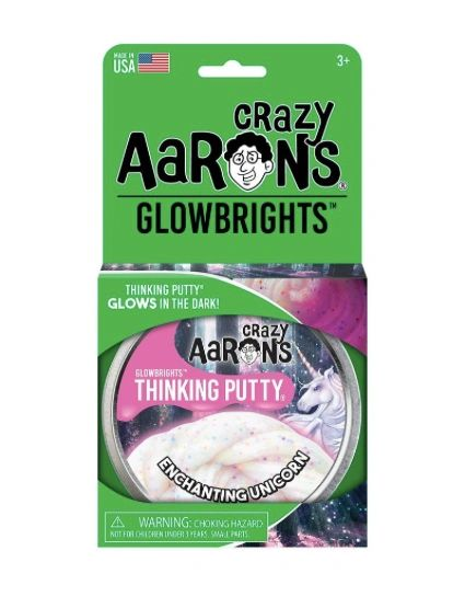 ENCHANTING UNICORN - Crazy Aaron's GLOWBRIGHTS Thinking Putty