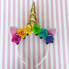 Unicorn Floral Headband