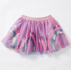 Sequin Rainbow Tutu Skirt