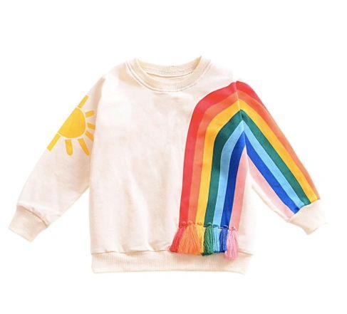 Rainbow Fringe Sweatshirt - Toddler Size