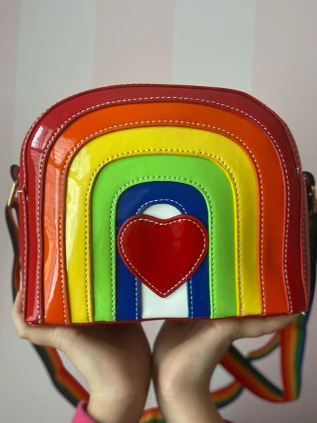 Rainbow with Heart Purse