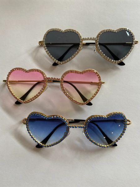 Rhinestone Hearts Sunglasses