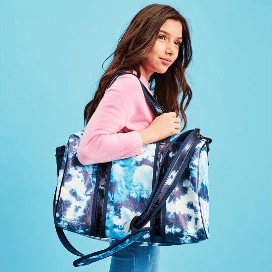 Blue Tie Dye Duffle Bag